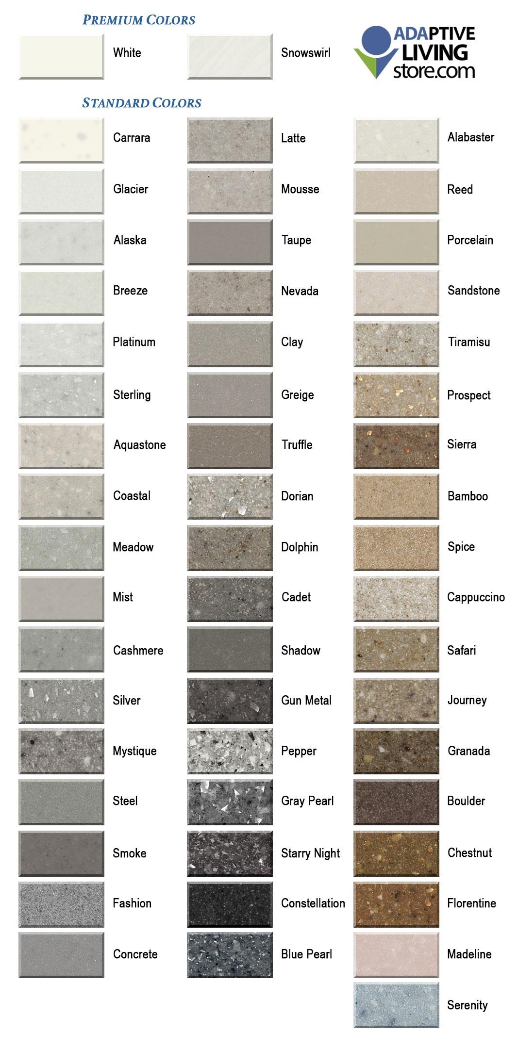Ada Vanity Sink Top Standard Granite Colors 1 Inch Deck